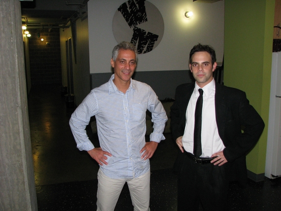 Rahm Emanuel with Seth Weitberg at Rahm Emanuel, Sen Durbin & More Visit Wolly Mammoth's BARACK STARS
