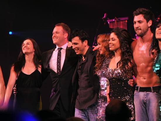 Director Jason Gilkison, Ricky Rojas, Karina Smirnoff, Rebecca Tapia & Maksim Chmerkovskiy