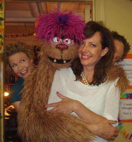 Jennifer Barnhart, Trekkie Monster, Allison Janney, and Christian Anderson Photo
