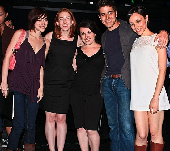 Krysta Rodriguez, Alison Posner, Michelle Kinney, Josh Young and Gemma Ashely-Kaplan