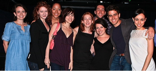 Phoebe Strole, Kerry O'Malley, Lili Cooper, Krysta Rodriguez, Alison Posner, Zachary Prince, Michelle Kinney, Josh Young and Gemma Ashley Kaplan