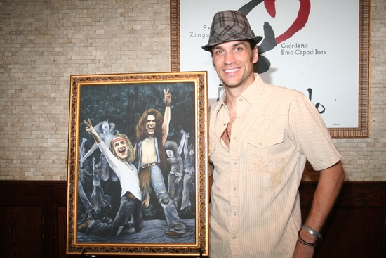 Photo Coverage: HAIR Stars Creel and Swenson Unveil Their Tony's DiNapoli 'Broadway Wall of Fame'  Portrait