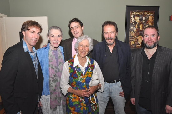 Director Tim Ruddy, Marian Seldes, Michael Mellamphy, Frances Sternhagen, Colin Lane, and Gary Gregg