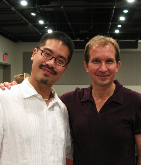 Director Ed Sylvanus Iskandar and Choreographer Stas Kmiec at Lincoln Center Director-Choreographer Panel