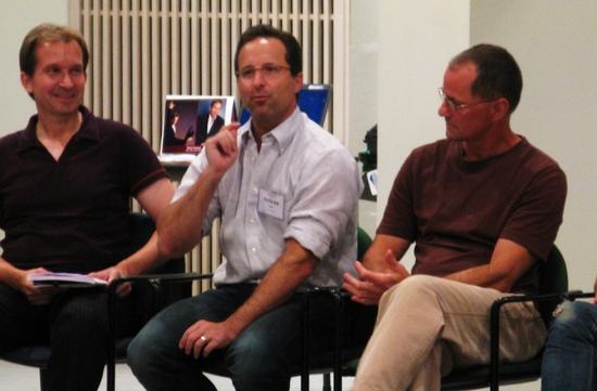 Stas Kmiec, Andrew Asnes, Peter Pucci at Lincoln Center Director-Choreographer Panel