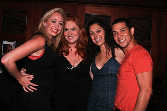 Shea Sullivan, Katie Thompson, Marisa Echeverria and Ernesto Alonso Palma at Katie Thompson Sings 'FROM HER NOTEBOOK' at the Laurie Beechman Theatre