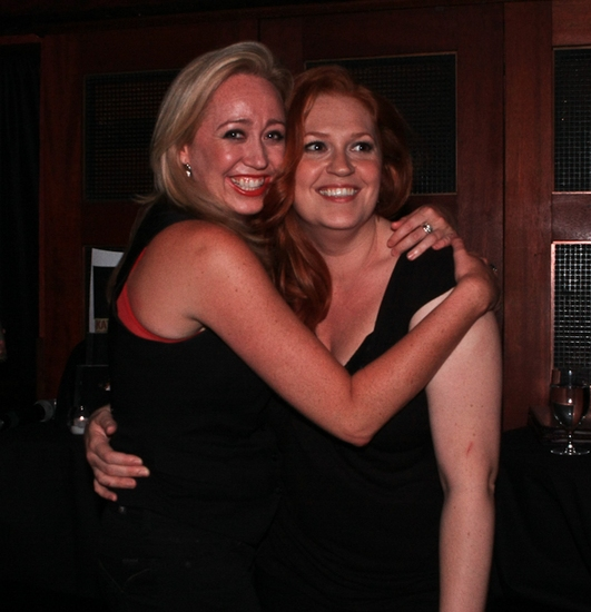 Shea Sullivan and Katie Thompson at Katie Thompson Sings 'FROM HER NOTEBOOK' at the Laurie Beechman Theatre