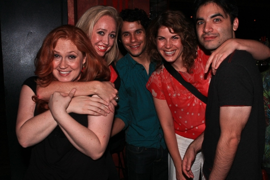 Katie Thompson, Shea Sullivan, Xavier Cano, Laurie Wells, Rick 'Hip' Flores at Katie Thompson Sings 'FROM HER NOTEBOOK' at the Laurie Beechman Theatre