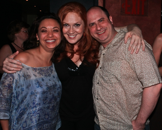 Jen Bender, Katie Thompson and James Sampliner at Katie Thompson Sings 'FROM HER NOTEBOOK' at the Laurie Beechman Theatre