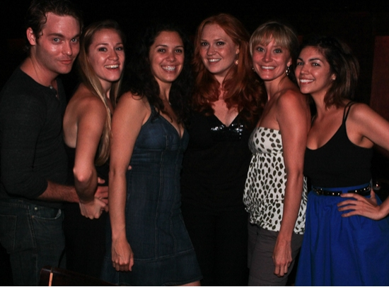 Members of Signature's Giant cast: Ashley Robinson, Betsy Morgan, Marisa Echeverria, Julie Tolivar, Isabel Santiago