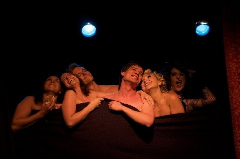 Darcie Siciliano, Melissa D'Amico, Adam Perry, Jason Hart, Julie Atlas Muz, and Mistress B at Erotic Broadway At The Triad