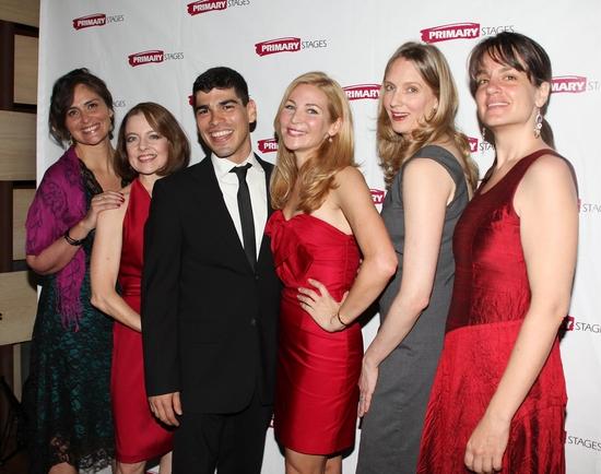 Isabel Keating and Kevin Spirtas, Isabel Keating, Raul Castillo, Jennifer Westfeldt, Christina Kirk and Pam McKinnon