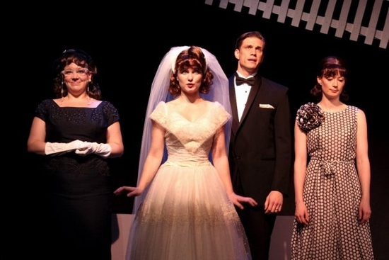 Frances Mercanti-Anthony, Autumn Hurlbert, Lee Aaron Roen and Monica West at A CONTEMPORARY AMERICAN'S GUIDE TO A SUCCESSFUL MARRIAGE At Cherry Lane Theatre