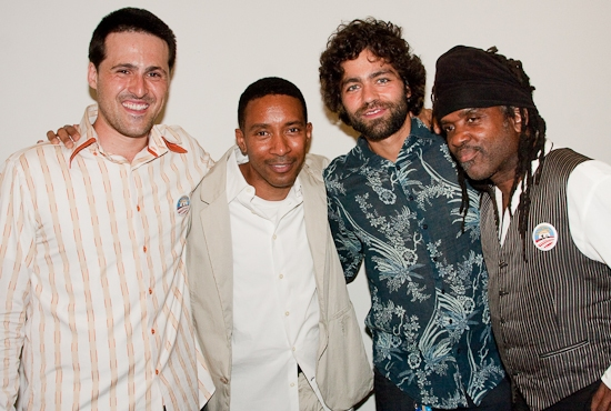Johnathan L. Davidson (playwright), Charles Randolph-Wright (director), Adrian Grenier, and Roy Wilfred Wooten