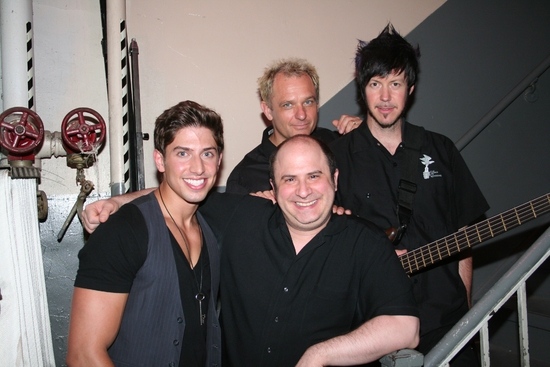 Nick Adams, James Sampliner (Musical Director), Shannon Ford (Drums) and Mark Vanderpoel (Bass) at Nick Adams Makes Solo Cabaret Debut At Birdland