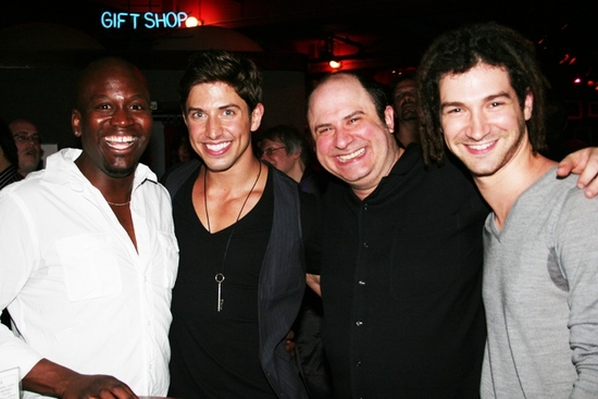 Tituss Burgess, Nick Adams, James Sampliner and Adam Wachter at Nick Adams Makes Solo Cabaret Debut At Birdland