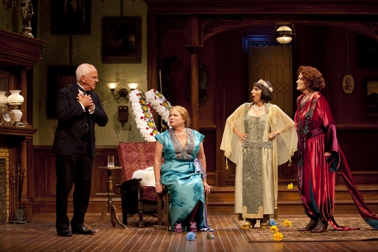 John Rubinstein, Becky Ann Baker, Andrea Martin, and Katherine McGrath at THE TORCH-BEARERS At Williamstown Theatre Festival