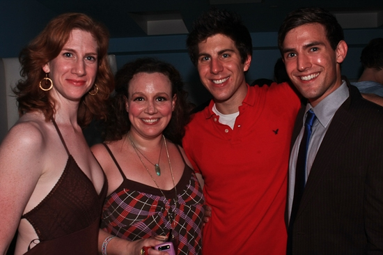 Anna Stone, Frances Mercanti-Anthony, Playwright Robert Bastron, Morgan Karr at A CONTEMPORARY AMERICAN'S GUIDE TO A SUCCESSFUL MARRIAGE Opening Night