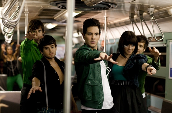 Gabe Saporta, Ryland Blackinton, Alex Suarez, Nate Novarro and Victoria Asher