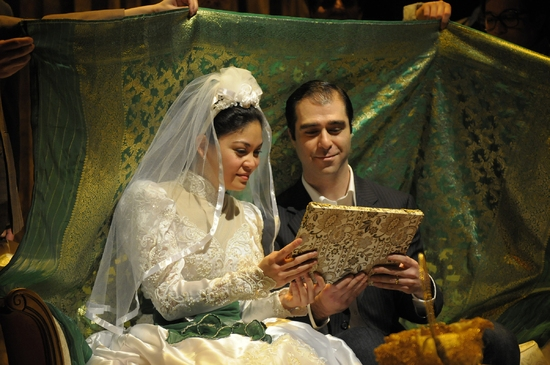 Rinabeth Apostol and Barzin Akhavan at THE KITE RUNNER At Arizona Theatre Company
