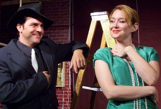 Sean Owen as Johnny Chicago and Jessica Godber as Gwendolyn Vandermorgan