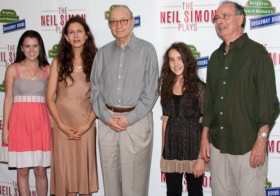 Alexandra Socha, Jessica Hecht, Neil Simon, Gracie Bea Lawrence, and Allan Miller at 'THE NEIL SIMON PLAYS' Cast Meets The Press
