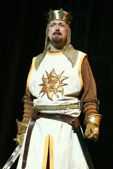 Christopher Gurr as King Arthur at Monty Python's SPAMALOT Plays San Diego