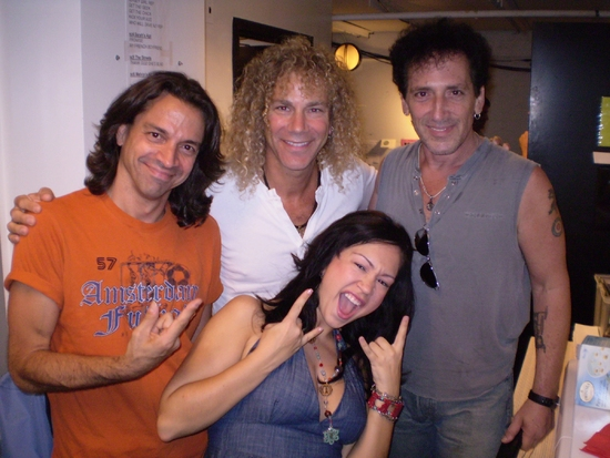 Chris Cicchino, David Bryan, Alan Childs and Diana DeGarmo