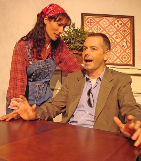 Alexis Armstrong and Evan Voboril at Norm Foster's THE AFFECTIONS OF MAY Hits The Attic Playhouse 9/11-10/18