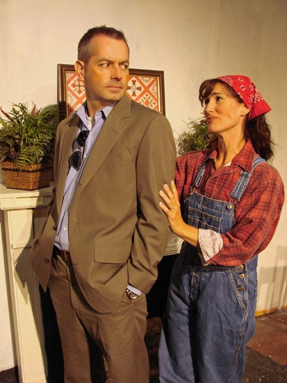 Evan Voboril and Alexis Armstrong at Norm Foster's THE AFFECTIONS OF MAY Hits The Attic Playhouse 9/11-10/18