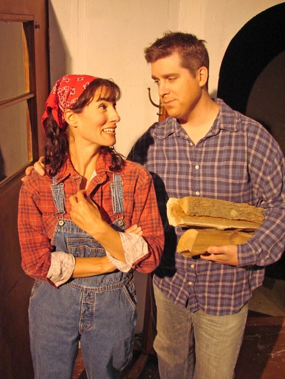 Alexis Armstrong and Aaron G. Stash at Norm Foster's THE AFFECTIONS OF MAY Hits The Attic Playhouse 9/11-10/18