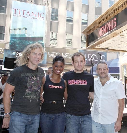 David Bryan, Montego Glover, Chad Kimball and Joe DiPietro