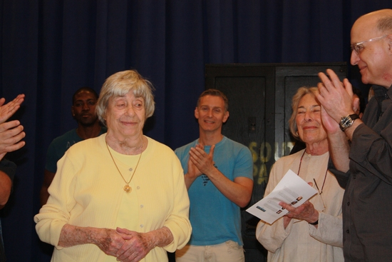 Alice Hammerstein greets the cast and creative team