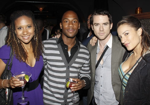Tracie Thoms, J Lee, Christian Campbell and Friend at Stephen Schwartz: Making Good
