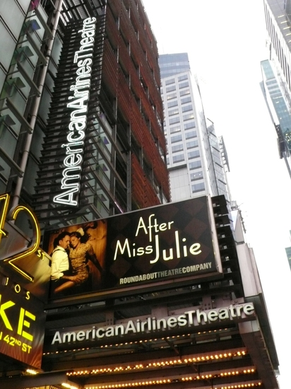 Photo Coverage: The 'AFTER MISS JULIE' Theatre Marquee Debuts On 42nd St!