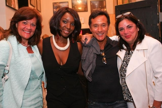 Saycon Sengbloh with Red Letter Entertainment Management Company's Claudia Albetta, Rob Kolker and Cyrena Esposito
