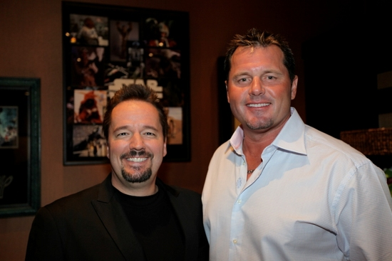 Terry Fator and Roger Clemens