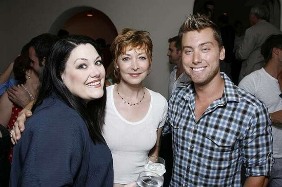 Brooke Elliott, Sharon Lawrence and Lance Bass