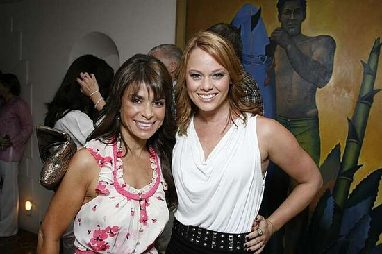 Paula Abdul and Kate Levering