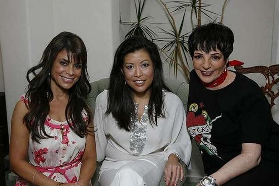 Paula Abdul, Andrea Wong and Liza Minnelli