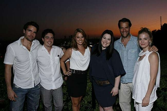 Jackson Hurst, Ben Feldman, Kate Levering, Brooke Elliott, Josh Stamberg and Brooke D'Orsay at Zadan And Meron Host An All-Star Cast Reception For Their Lifetime Hit DROP DEAD DIVA