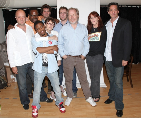 Yasen Peyankov, Jane Alderman, Michael Garvey, Cliff Chamberlain, Michael McKean, Robert Maffia, Kate Buddeke, Jon Michael Hill, James Vincent Meredith and Tina Landau at Broadway's SUPERIOR DONUTS Cast And Creative Team Meets The Press