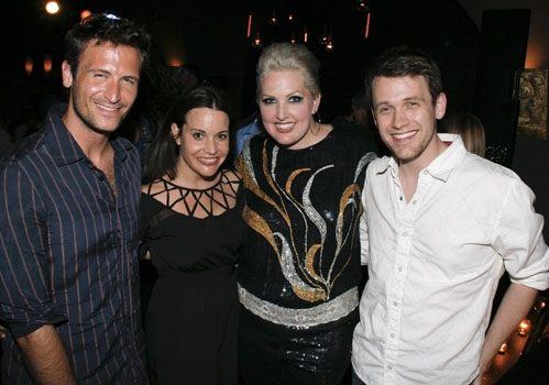 Bare reunion at Upright Cabaret - John Hill, Jenna Leigh Green, Natalie Joy Johnson and Michael Arden at LEGALLY BLONDE's Natalie Joy Johnson Makes West Coast Solo Debut at Upright Cabaret