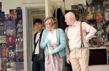 Chris New, Gwen Taylor, and Matt Lucas