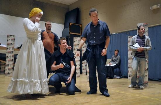 Katie Karel (Lucinda), Patrick DuLaney (Steward/Boy's Father); Claybourne Elder (Wolf, Cinderella's Prince), Moises Kaufman (director), Euan Morton