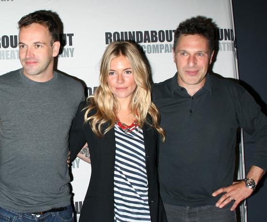Jonny Lee Miller, Sienna Miller and Patrick Marber