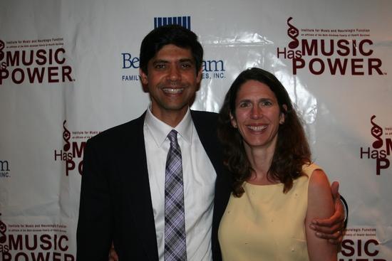 Aniruddh Patel Ph.D with his wife Jennifer Burton