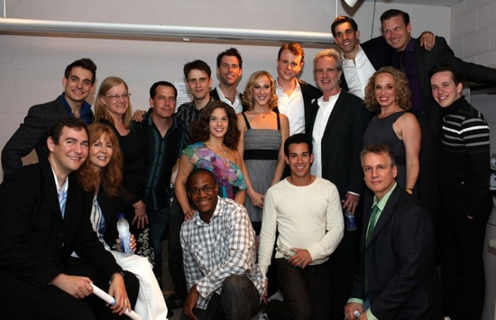 The Toronto Cast of Jersey Boys Celebrates: Back Row, from L to R: West Hyler, Judy Parker, Adrian Marchuk, Cindy Toushan, Steve Broadhurst, Gabe Antonacci, Michael Lomenda, Quinn VanAntwerp, Jeff Madden, Daniel Robert Sullivan. Middle Row, from L to R: A