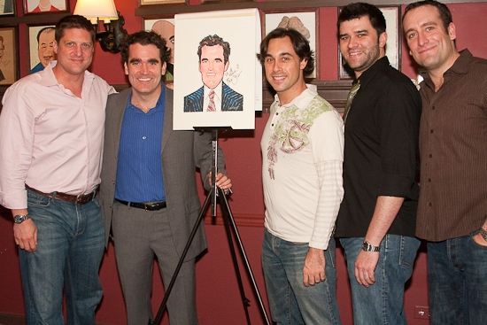 Chistopher Sieber, Brian d'Arcy James, Ryan Duncan, Ben Crawford and Chris Hoch