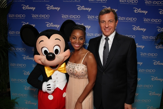Mickey Mouse, Anika Noni Rose and Disney's Bob Iger